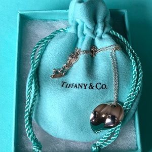 Authentic Tiffany & Co. Gehry Heart Pendant